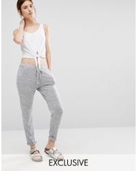 Stitch & Pieces - Slouchy Joggers - Lyst