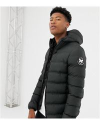 Good For Nothing - Hooded Puffer Jacket In Black Exclusive To Asos - Lyst