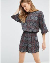 First & I - Printed Playsuit - Lyst