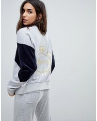 Juicy Couture - Velour Luxe Logo Tracksuit Jacket - Lyst