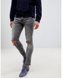 Only & Sons - Ripped Acid Wash Jeans - Lyst