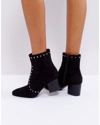 Truffle Collection - High Ankle Stud Sock Boot - Lyst