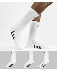 adidas Originals - Socks 3 Pack In White Cf8411 - Lyst