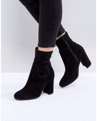 Dune - Oliah Suede Heeled Boots - Lyst