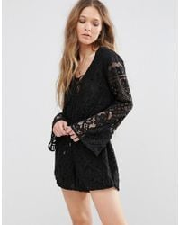 Tularosa - Lace Up Playsuit - Lyst