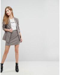 New Look - Check Mini Skirt - Lyst