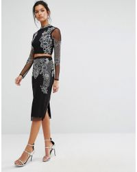 Frock and Frill - Midi Skirt With Embellishment - Lyst