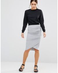 Uncivilised - Chorus Jersey Tube Skirt - Lyst
