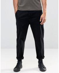Lindbergh - Chino With Drop Crotch In Black - Black - Lyst