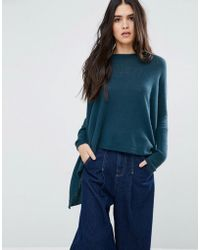 Subtle Luxury - Loose And Easy Crew Neck Cashmere Jumper In Peacock - Lyst