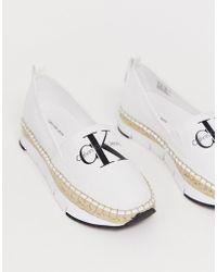 Calvin Klein Alpargatas de lona blancas Genna