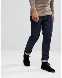 Nudie Jeans - Co Fearless Freddie Loose Tapered Fit Jeans In Dry Ring Wash - Lyst