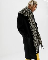 ASOS - Blanket Scarf In Brown Check - Lyst