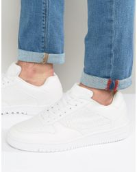 Pull&Bear | Trainers With Perforations In White | Lyst