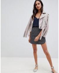 Glamorous - A Line Skirt In Gingham - Lyst