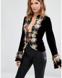 Millie Mackintosh - Embroidery Floral Jacket - Lyst