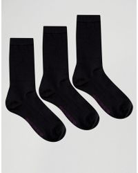 French Connection - 3 Pack Plain Socks In A Box - Lyst