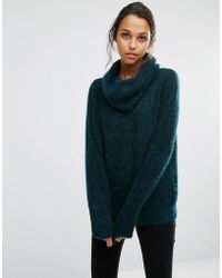 SELECTED - Sille Knitted Jumper With Roll Neck - Lyst
