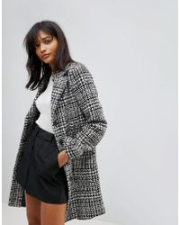 Oasis - Tailored Dogtooth Tweed Coat - Lyst