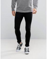 Levi's - 519 Extreme Skinny Fit Jean Black Wash - Lyst