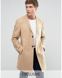 Noak - Skinny Smart Overcoat - Lyst