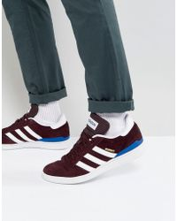 5b635e5ea88183 adidas Originals - Adidas Skateboarding Busenitz Trainers In Red By3965 -  Lyst