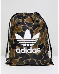 adidas Originals - Drawstring Bag In Camo Cd6099 - Lyst