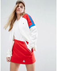 Le Coq Sportif - Sweat Bomber Jacket With Colour Block Panels - Lyst
