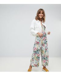 9db05e1dc0 Mango - All Over Floral Strappy Jumpsuit In Multi - Lyst