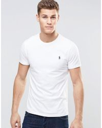 Polo Ralph Lauren - T-shirt With Crew Neck In White - Lyst