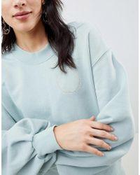 SELECTED - Femme Sweatshirt With Metallic Embroidery - Lyst