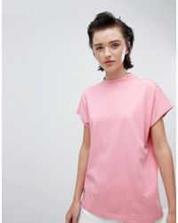 Weekday - Prime T-shirt In Pink - Lyst