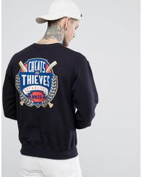 Cheats & Thieves - Cheats And Thieves Established Back Print Sweatshirt - Lyst