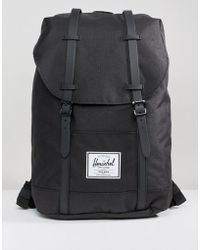 Herschel Supply Co. - Retreat Backpack In Black With Rubberised Straps - Lyst