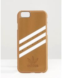 adidas Originals - Originals 3 Stripe Iphone 6/6s Case In Sand - Khaki/white - Lyst