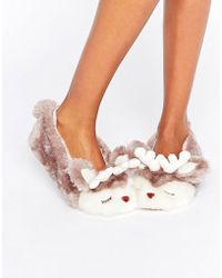 Boux Avenue - Christmas Reindeer Slipper - Lyst