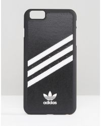 adidas Originals - Originals 3 Stripe Iphone 6 Plus Case In Black And White - Black/white - Lyst