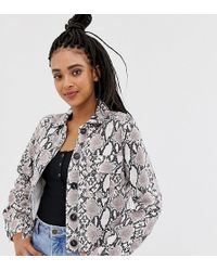 New Look - Utility Shacket In Snake Print - Lyst