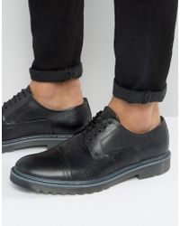 HUGO - By Boss Pure Snake Toe Cap Derby Shoes - Lyst