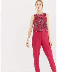 3ee419b26c4 Frock and Frill - Frock   Frill Tailored Jumpsuit With Embellished Upper -  Lyst