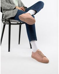 Fred Perry - Lottie Pink Sneaker With Suede Toe Cap - Lyst