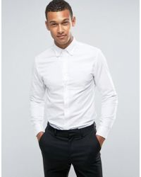 Mango | Man Oxford Shirt In White | Lyst