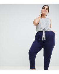 388cf0dd462 ASOS - Asos Design Curve Ultimate Jersey Peg Pants - Lyst