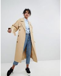 Monki - Classic Mac Trench Press Collection - Lyst
