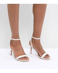 285fed979291 ASOS - Half Time Bridal Barely There Heeled Sandals - Lyst