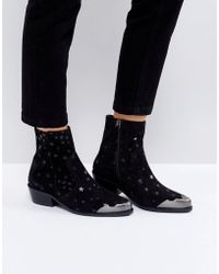 ASOS - Amma Suede Star Boots - Lyst