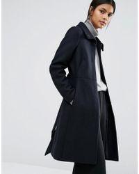 Warehouse | Longline Belted Coat | Lyst