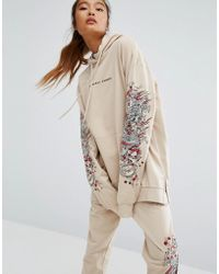 Criminal Damage - Oversized Hoodie With Arm Embroidery Co-ord - Lyst