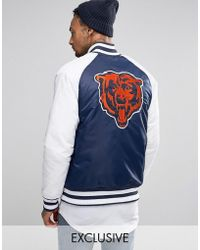 Majestic Filatures - Chicago Bears Souvenir Jacket Exclusive To Asos - Lyst