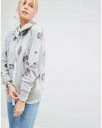 Sportmax Code - Zip Front Hoodie With Embellishment - Lyst